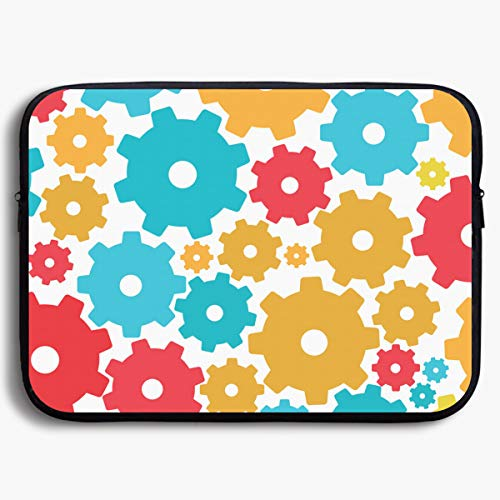 (MPJTJGWZ Laptop Sleeve- Neoprene Handbag Protective Cover for MacBook Air/Pro 13 Inch 15 Inch, Colorful Pinions Print)