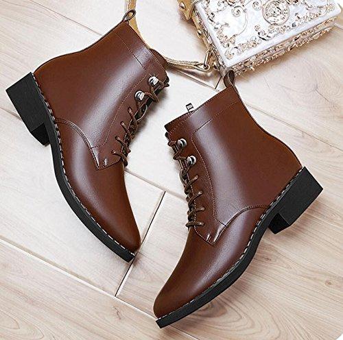 Velours Version Martin 35 brown Chaussures Fan Khskx Avec Base Angleterre Sauvage La Plate Femmes Coréenne 5cm De Courtes Bottes L'hiver 3 Femme Petit Plus Nouvelle SqYA7UnY