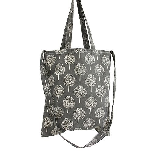 Caixia Women's Dandelion Canvas Convertible Tote Crossbody Bag (Grey/Zip) (Shopper Bag Zip)