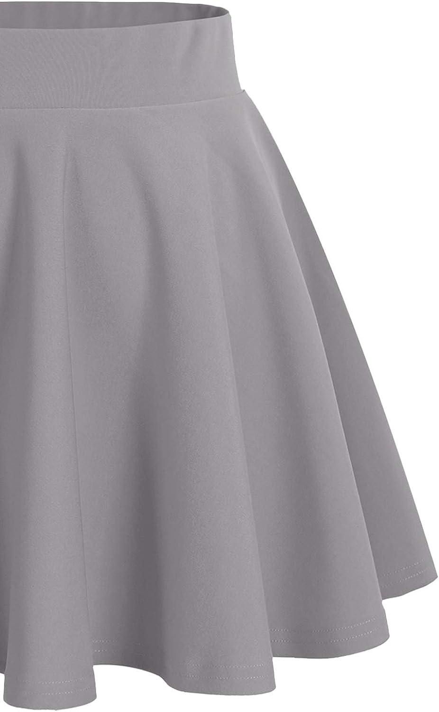 DRESSTELLS Jupe Mini Courte /évas/ée en Polyester
