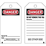 Brady 65347, Blank Accident Prevention Tag, (10 Packs of 25 pcs)