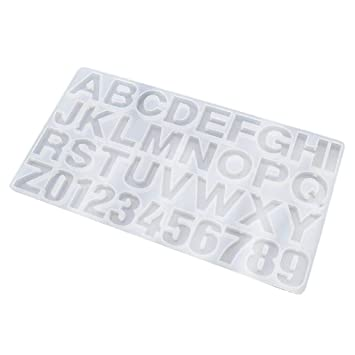 yalulu 0 – 9 Números molde de fundición de resina molde de silicona 26 letras del