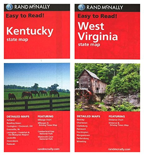 West Virginia County Maps - Rand McNally State Maps: Kentucky and West Virginia (2 Maps)