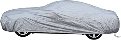 OxGord Solar-Tech Reflective Car Cover Best Reflective Method Fits up to 144 Inches Ready-Fit//Semi Glove Fit 100 Sun-Proof
