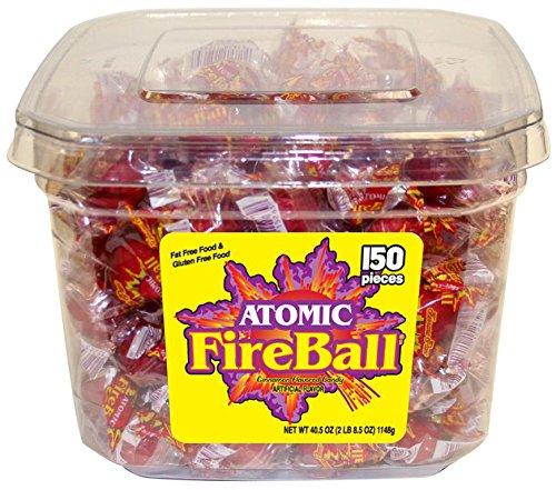 Atomic Fireballs Cinnamon Hard Candy, 40.5 Ounce Tub