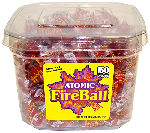 Atomic Fireballs Cinnamon Hard Candy, 40.5 Ounce Tub