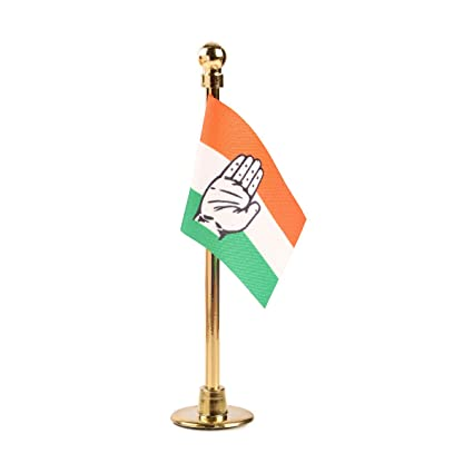 the flag shop moulded plastic polyester indian national congress