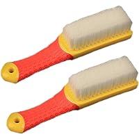 Escova de esfregão confortável aderente e cerdas rígidas flexíveis resistente para banheiro chuveiro pia carpete chão…