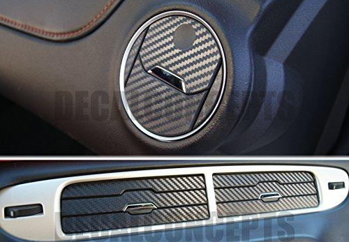 Camaro Black Carbon Fiber Interior Vent Decal kit (Vent Decal)
