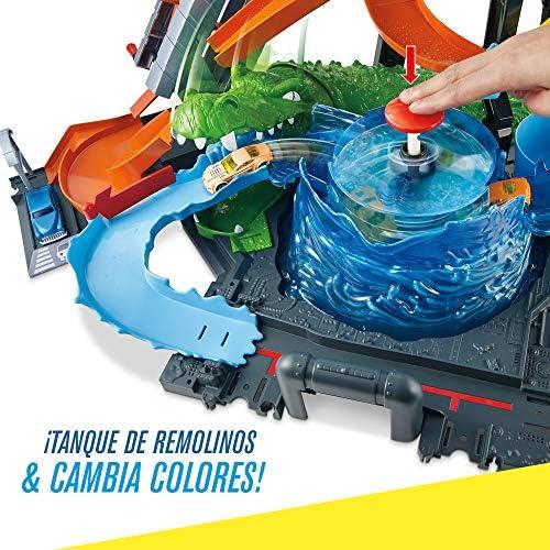 Hot Wheels - Pista coches cocodrilo túnel de lavado - (Mattel ...