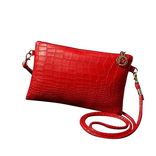 Feixiang Pour Sac Bandoulière Femme Red qg1a7Tqz