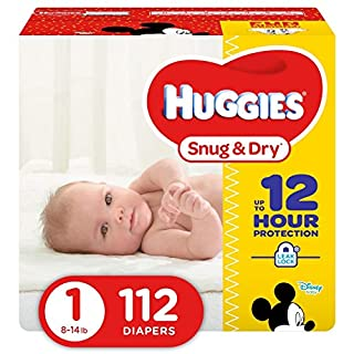 HUGGIES Snug & Dry Diapers, Size 1, 112 Count, BIG PACK (Packaging May Vary) (B00TX1KIF4) | Amazon Products
