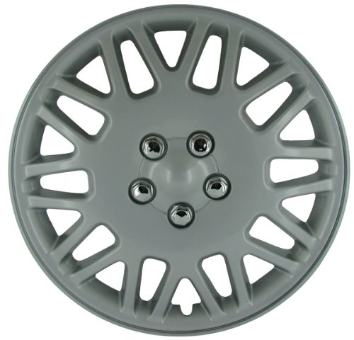 Wheelskins Honda Accord (CCI IWC406-16S 16 Inch Clip On Silver Finish Hubcaps - Pack of 4)