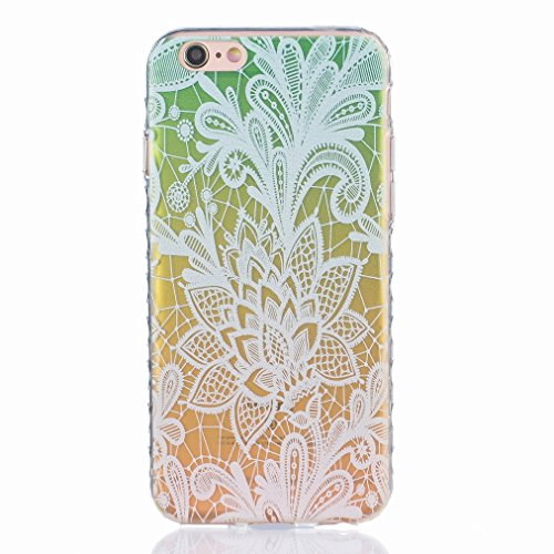 Ougger Apple iPhone 6s Plus 5.5 Custodia Case, Antigraffio Trasparente Cristallo Durevole Slim Morbido TPU Gomma Silicone Flessibile Protettivo Skin Shell Bumper Rear (Modello 2)