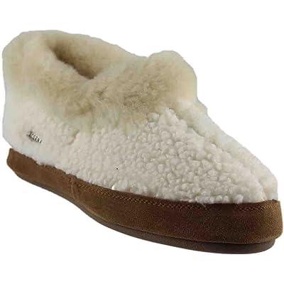 Acorn Women's Oh Ewe II Slippers, Buff Popcorn/Walnut