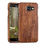 kwmobile Natural wood case for the Samsung Galaxy A5 (2016) in rosewood dark brown
