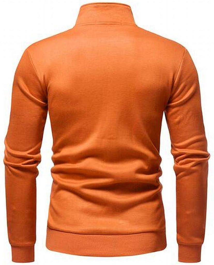 JYZJ Men Athletic Casual Full-Zip Turtle Neck Fleece Sweatshirt Jacket Coat Outerwear