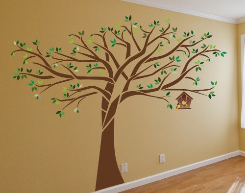 Beautiful Large Tree Wall Decal Deco Art Sticker Mural 7 5 Ft Tall X 10 Ft Wide