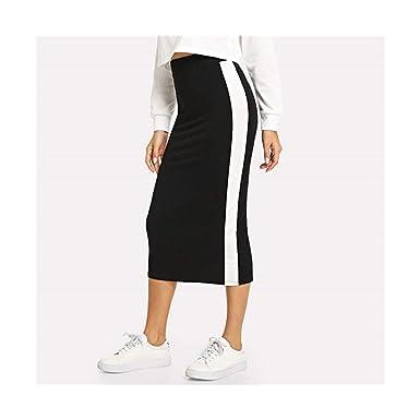Availcx-Sexy Long Skirt Faldas Elegantes de Cuerpo Entero para ...