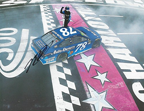 AUTOGRAPHED 2017 Martin Truex Jr. #78 Auto-Owners Racing CHARLOTTE RACE WIN (Finish Line Celebration) Monster Cup...