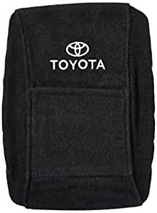 Seat Armour Officially Licensed Custom Fit Center Console Cover with Toyota Embroidered Logo for Select Toyota Camry Models - (Black)