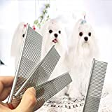 Professional 1pcs Grooming Dog Brushes Pin Brush Stainless Steel Comb Pet Products, Dog Grooming Brushes - Dog Brush In Grooming, Dog Shedding Brush, Grooming Tools For Dogs, Dog Grooming Brush Kit