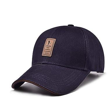 Hombres Gorra de béisbol Moda Deportes Casual Exterior Simple Sombrero sólido: Amazon.es: Ropa y accesorios