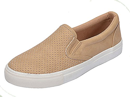 Soda+Shoes+Women%27s+Tracer+Slip+On+White+Sole+Shoes%2C+Camel+Pu%2C+7