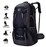 """Specifications:  ▶ Item type: Hiking Daypack ▶ Gender: Unisex (Adult, Teenager)  ▶ Material: Water-resistant, rip-stop Nylon  ▶ Capacity: 60L  ▶ SIze: 24.0"""" * 14.6"""" * 8.3"""" ▶ Package Included: 1 x Outdoor Backpack   Organized Compartment:  1. Main ..."""