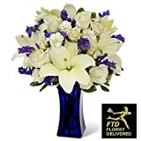 The Beyond Blue Bouquet with Same Day Flowers! Blooming Flowers - Fresh Flowers - Wedding Flowers Bouquets - Birthday Flowers - Send Flowers