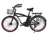 Newport Beach Cruiser Electric Bicycle - Black by X-treme Bike