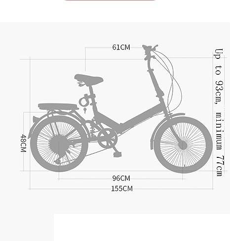 Weiyue Bicicleta Plegable- Bicicleta Plegable for Adultos ...