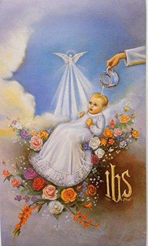 Guardian Angel Holy Card (10 Prayer Holy Cards Picture of a Saint Holy Mass Guardian Angel Batism Christening)