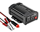 LESHP 400W Power Inverter DC 12V to AC 110V Car Adapter with 4.8A 2 USB Charging Ports