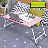 PLLP Table-Folding Table Fibreboard Laptop Tables with Card Slot Foldable Dormitory Learning Desk,3