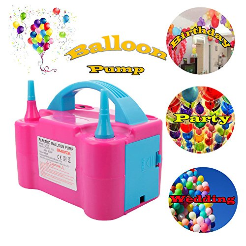 Balloon Electric Pump Inflator Air Portable Nozzle Blower High 110v Power Two Dual 600w Party - R Sydney Us Stores Toys