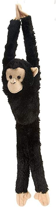 Wild Republic Chimpanzee Plush, Monkey Stuffed Animal, Plush Toy, Gifts for Kids, Hanging 20 Inches