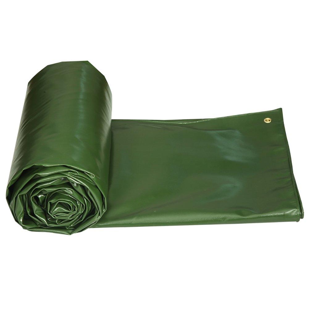 GUOWEI-pengbu ターポリン キャンバス リノリウム シェード 日焼け止め 耐寒性 防水 絶縁 老化防止 ポリエステル 屋外 (色 : Green, サイズ さいず : 4.85x3.85m) B07FYGPMFM 4.85x3.85m|Green Green 4.85x3.85m
