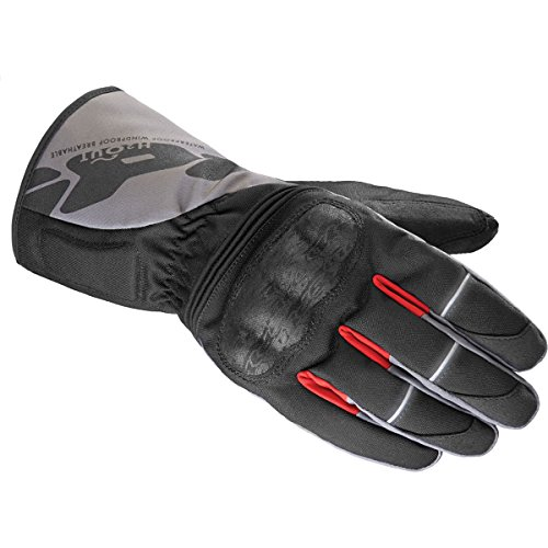 Spidi Gloves - Spidi WNT-1 H2out Men's Textile Sports Bike Racing Motorcycle Gloves - Black/Grey / X-Large