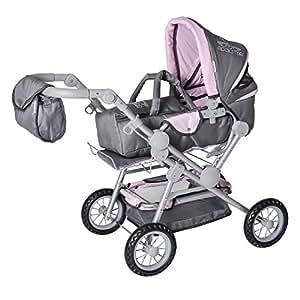 Knorrtoys.com 10410 Twingo S Rockstar - Cochecito de paseo para muñecas en color gris