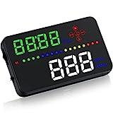 NEW SUN 3.5'' HUD Digital Head Up Display Car Speed Warning Alarm OBD2/EUOBD Speedometer KM/h MPH Plug&Play