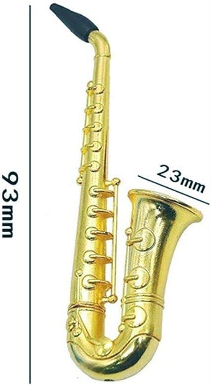 foulon Creative Small Sax-Shape Metal Mini Sacks Pipe Photographs