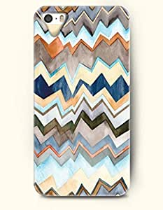 OOFIT Aztec Indian Chevron Zigzag Pattern Hard Case for Apple iPhone 4 4S Multi-Colored Curves Geometrc Stripes