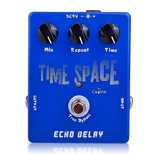 (Caline Guitar Effect Pedal CP-17 Time Space Echo Electric Digital Delay Pedal Aluminum Alloy Housing with 3 Switches )