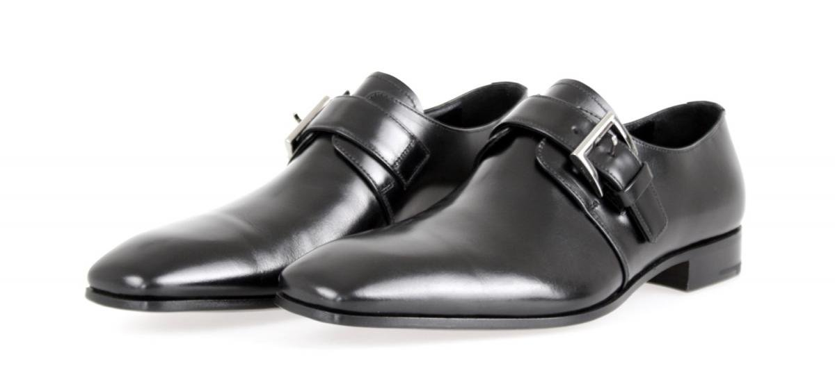 Prada Men's 2OA011 Black Leather Business Shoes EU 9.5 (43,5) / US 10.5 by Prada (Image #2)