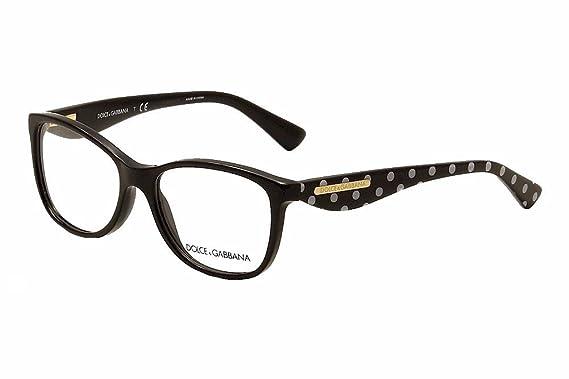 0ed4dd507 Dolce&Gabbana GOLD LEAF DG3174 Eyeglass Frames 2877-52 - Black  DG3174-2877-52