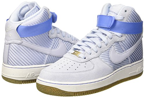 Nike AIR Force 1 HI PRM Womens Basketball-Shoes 654440-401_6.5 - Porpoise/Porpoise
