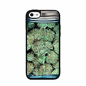 Clear Weed Mason Jar Plastic Phone Case Back Cover iPhone 5c