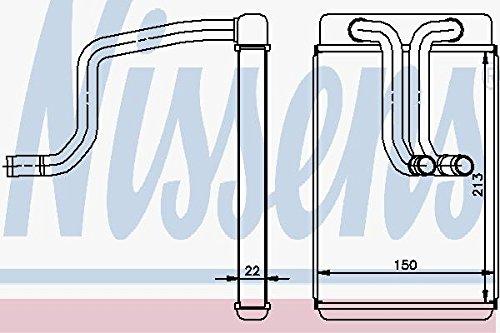 Nissens 77620 Heat Exchanger, interior heating
