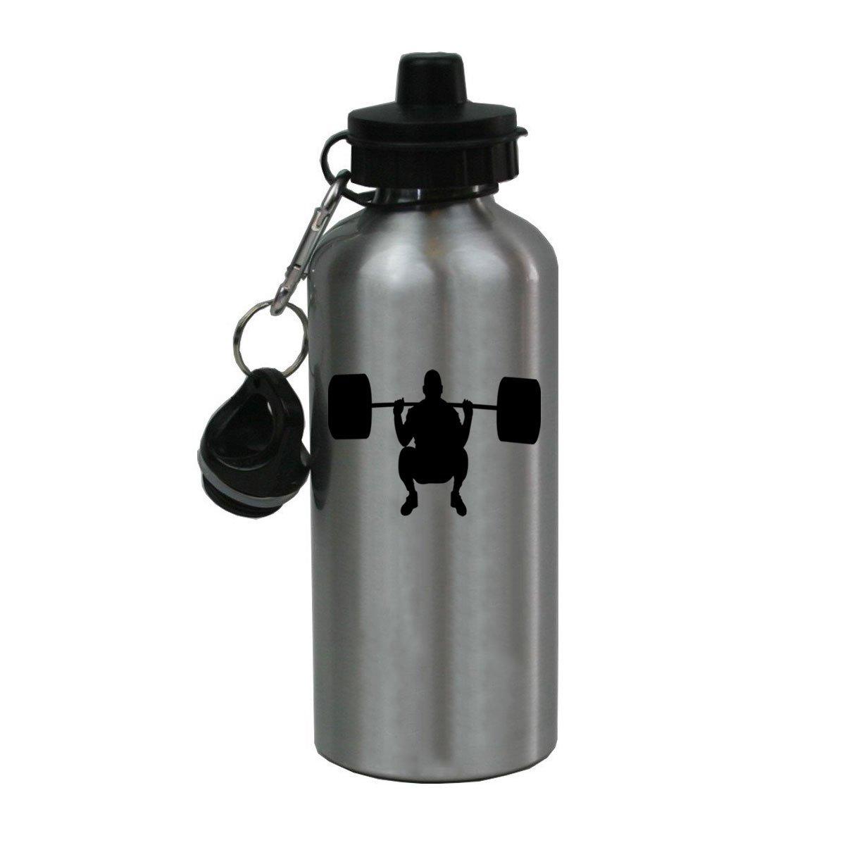Personalisierte Custom Gewichtheber Aluminium silber Finish 20 Unze Wasser Flasche anpassbare